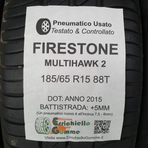 185/65 R15 88T Firestone Multihawk 2 –  60% +5mm – Gomme Estive