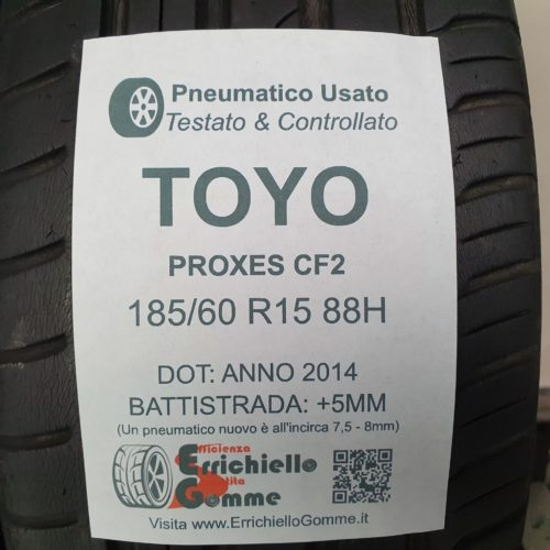 185/60 R15 88H Toyo Proxes CF2 – 60% +5mm – Gomme Estive