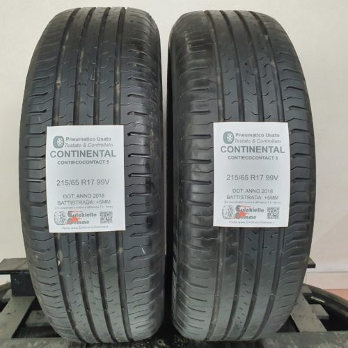 215/65 R17 99V Continental ContiEcoContact 5 – 60% +5mm – Gomme Estive
