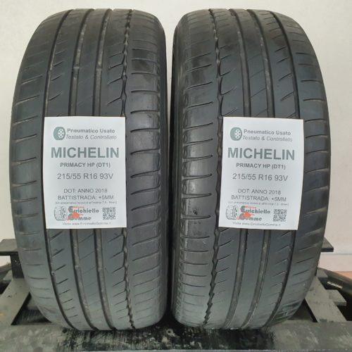 215/55 R16 93V Michelin Primacy HP (DT1) – 60% +5mm – Gomme Estive