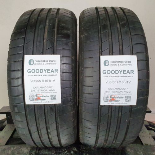 205/55 R16 91V Goodyear EfficientGrip Performance – 50% +4mm – Gomme Estive