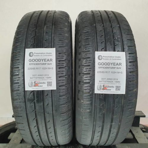 225/65 R17 102H M+S Goodyear EfficientGrip SUV –  60% +5mm Gomme 4 Stagioni