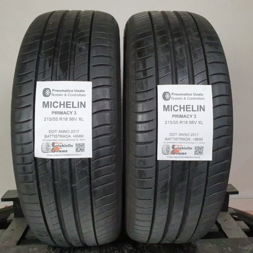 215/55 R18 98V XL Michelin Primacy 3 – 70% +6mm – Gomme Estive