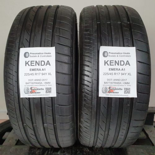 225/45 R17 91Y XL Kenda Emera A1 – 60% +5mm – Gomme Estive