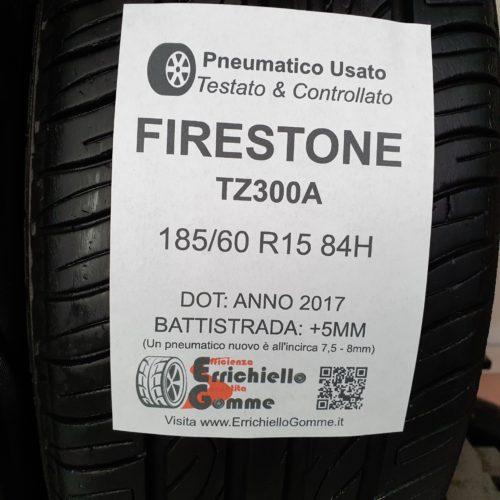 185/60 R15 84H Firestone TZ300A –  60% +5mm Gomme Estive