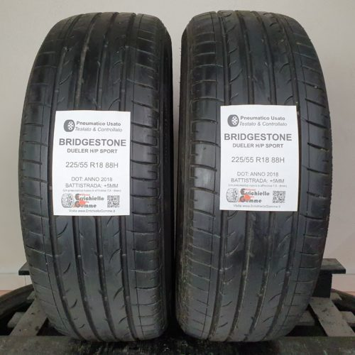225/55 R18 88H Bridgestone Dueler H/P Sport – 60% +5mm – Gomme Estive