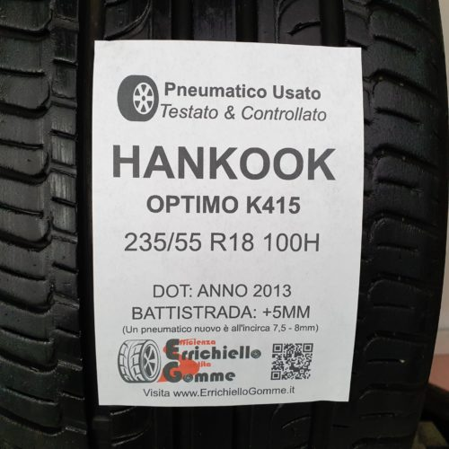 235/55 R18 100H Hankook Optimo K415 – 60% +5mm – Gomme Estive