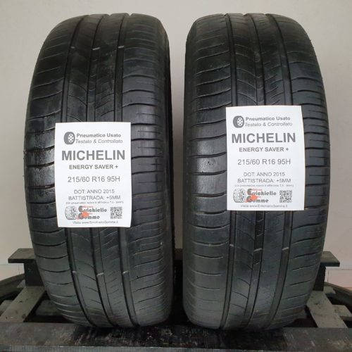 215/60 R16 95H Michelin Energy Saver+ – 60% +5mm – Gomme Estive