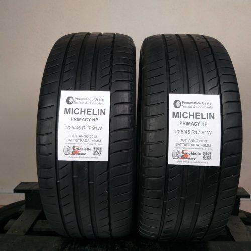 225/45 R17 91W Michelin Primacy HP –  60% +5mm – Gomme Estive