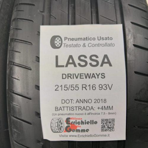 215/55 R16 93V Lassa DriveWays –  50% +4mm – Gomme Estive