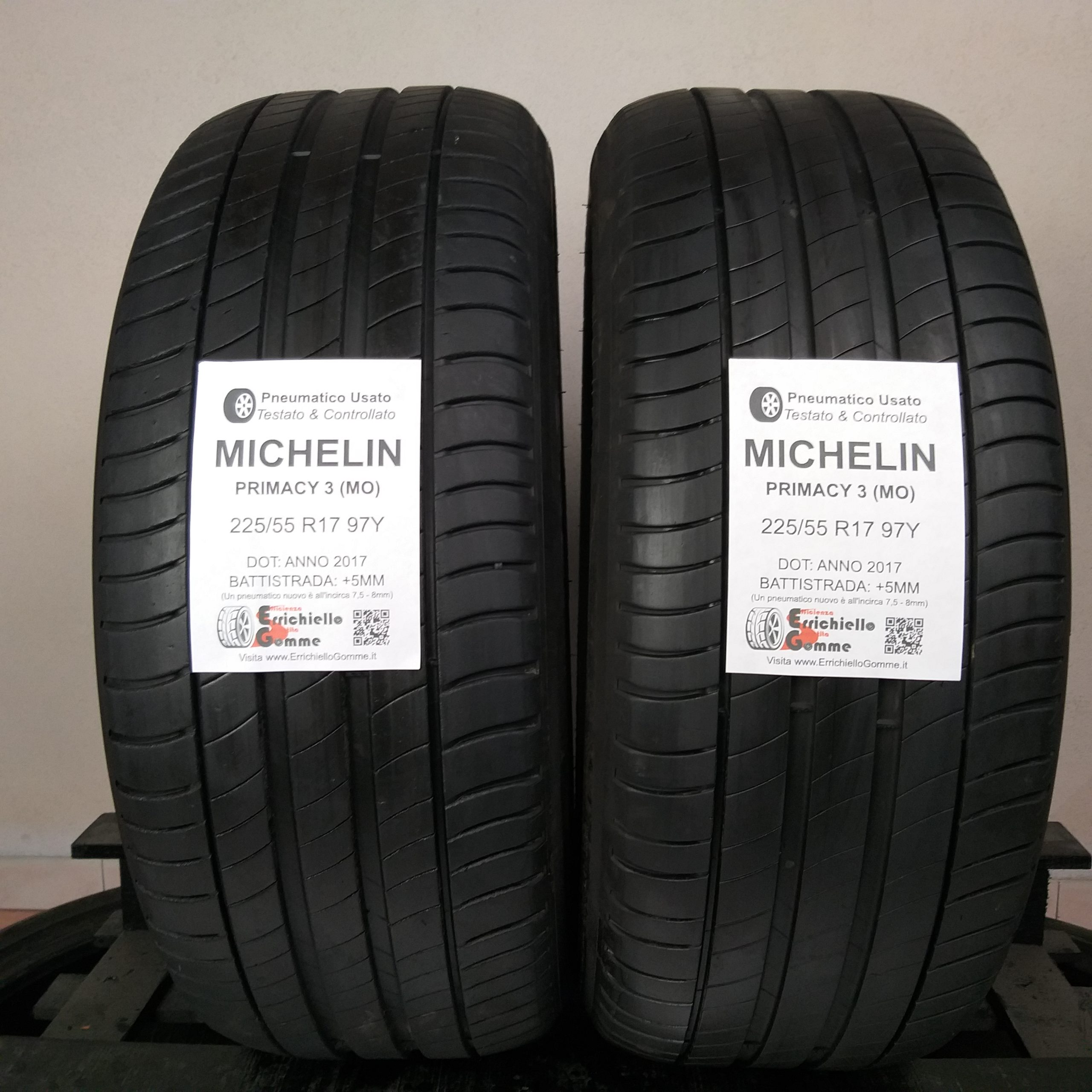 225/55 R17 97Y Michelin Primacy 3 (MO) – 60% +5mm – Gomme Estive