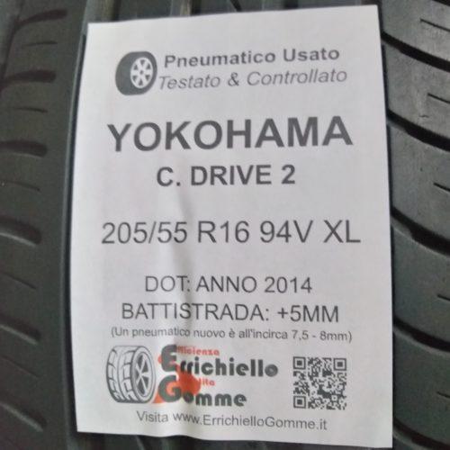 205/55 R16 94V XL Yokohama C. Drive 2 –  60% +5mm – Gomme Estive