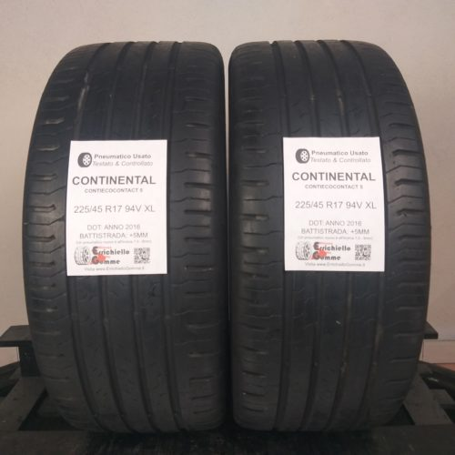 225/45 R17 94V XL Continental ContiEcoContact 5 –  60% +5mm – Gomme Estive