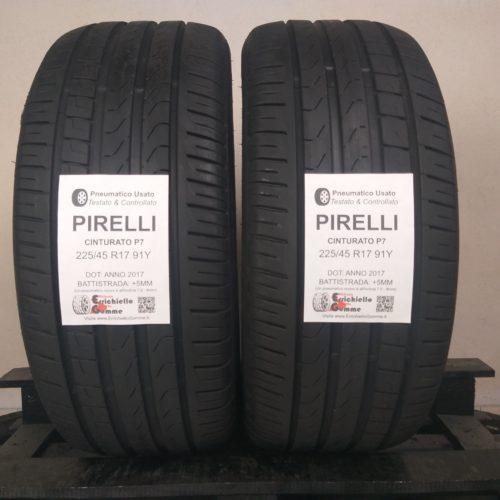 225/45 R17 91Y Pirelli Cinturato P7 –  60% +5mm – Gomme Estive