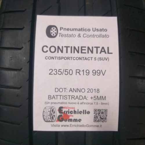 235/50 R19 99V Continental ContiSportContact 5 – 60% +5mm – Gomme Estive