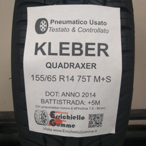 155/65 R14 75T M+S Kleber Quadraxer – 60% +5mm Gomma 4 Stagioni