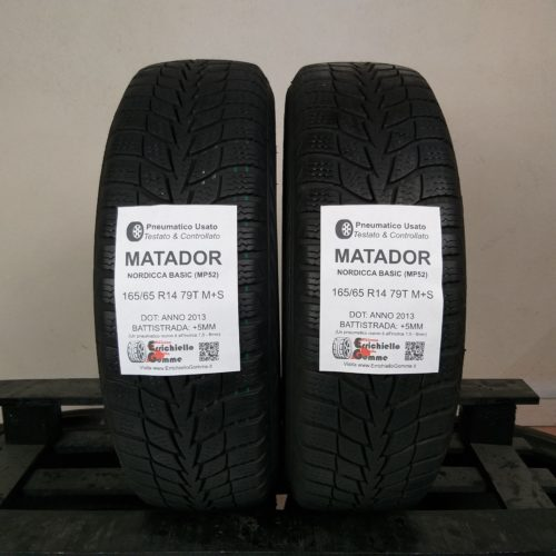 165/65 R14 79T M+S Matador Nordica Basic (MP52) – 60% +5mm – Gomme Invernali