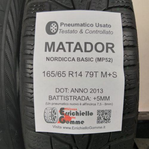 165/65 R14 79T M+S Matador Nordica Basic (MP52) – 60% +5mm – Gomme Invernali