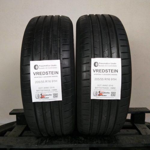 205/55 R16 91H Vredstein Sportrac 5 (Giugiaro Design) – 60% +5mm – Gomme Estive