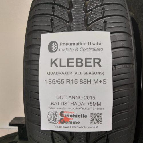 185/65 R15 88H M+S Kleber Quadraxer (All Seasons) – 60% +5mm – Gomme 4 Stagioni