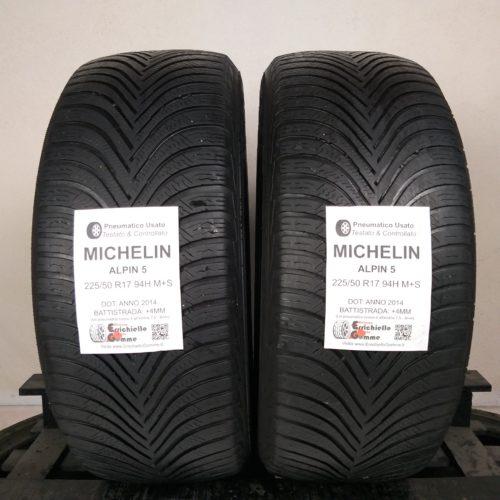 225/50 R17 94H M+S Michelin Alpin 5 – 50% +4mm – Gomme Invernali