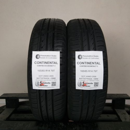 165/65 R14 79T Continental ContiEcoContact 3 – 60% +5mm – Gomme Estive