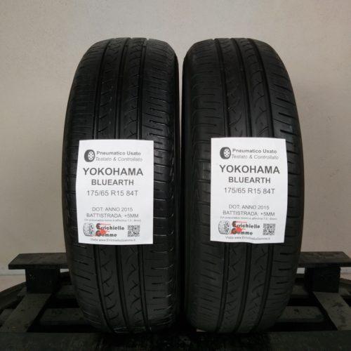 175/65 R15 84T Yokohama Bluearth – 60% +5mm – Gomme Estive