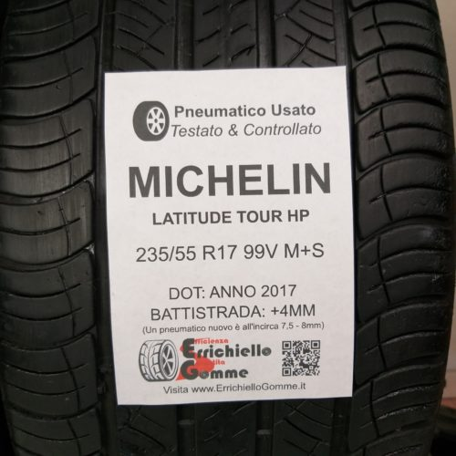 235/55 R17 99V M+S Michelin Latitude Tour HP – 50% +4mm – Gomme 4 Stagioni