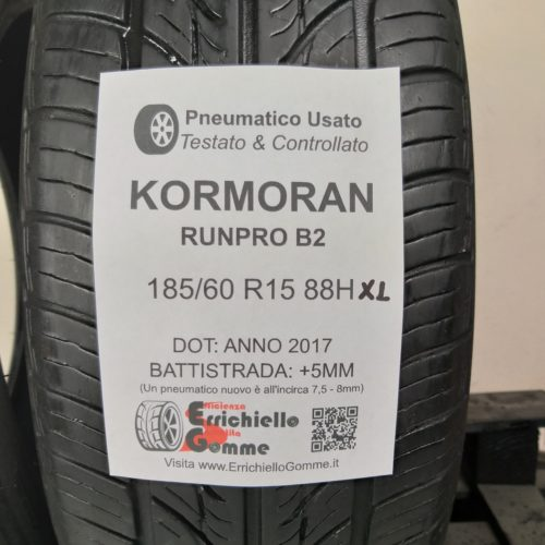 185/60 R15 88H XL Kormoran Runpro B2 – 60% +5mm – Gomme Estive