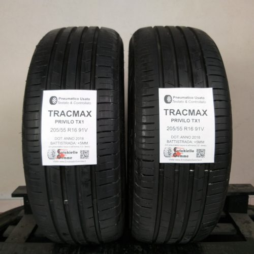 205/55 R16 91V Tracmax Privilo TX1 – 60% +5mm – Gomme Estive