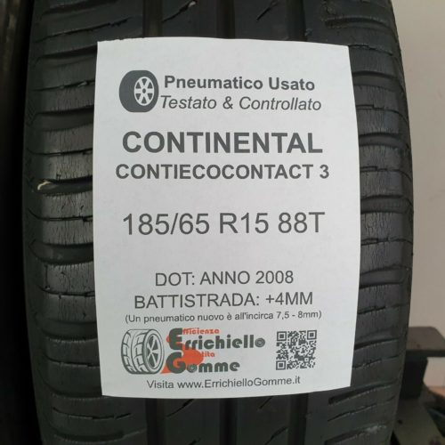 185/65 R15 88T Continental ContiEcoContact 3 –  50% +4mm – Gomme Estive