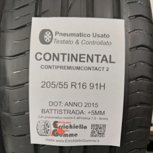 205/55 R16 91H Continental ContiPremiumContact 2 –  60% +5mm – Gomme Estive