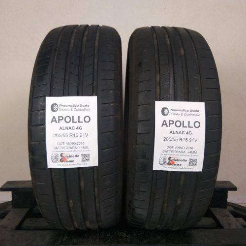 205/55 R16 91V Apollo Alnac 4G –  50% +4mm – Gomme Estive