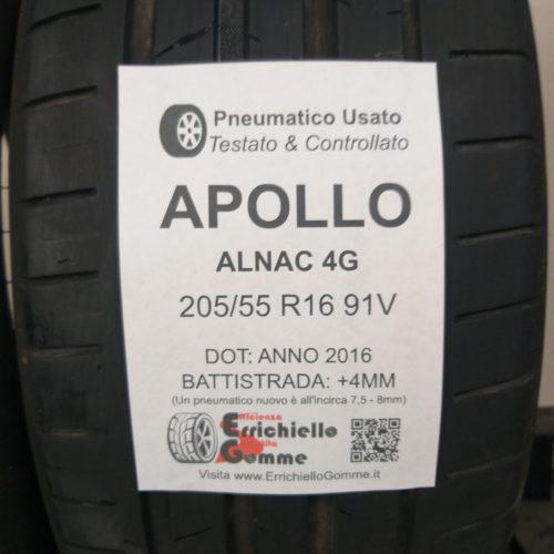 205/55 R16 91V Apollo Alnac 4G –  50% +4mm – Gomme Estive