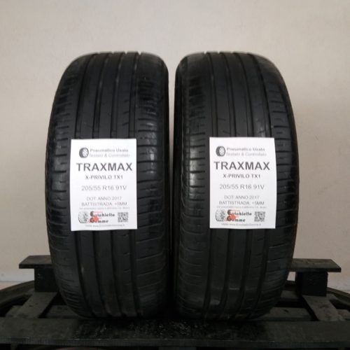 205/55 R16 91V TracMax X-Privilo TX1 –   60% +5mm – Gomme Estive