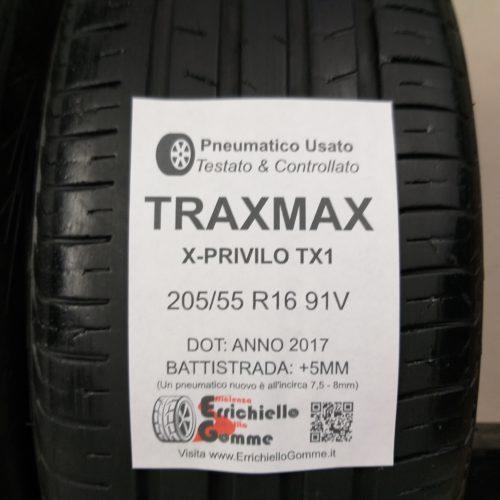 205/55 R16 91V TracMax X-Privilo TX1 –   60% +5mm – Gomme Estive