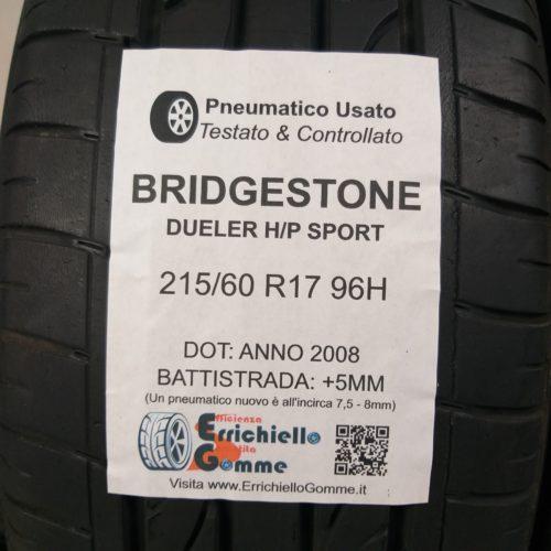 215/60 R17 96H Bridgestone Dueler H/P Sport  –  60% +5mm – Gomme Estive