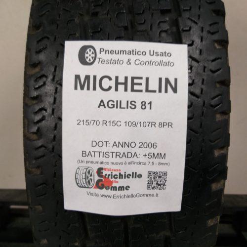 215/70 R15C 109/107R 8PR Michelin Agilis 81 – 60% +5mm – Gomma Estiva Trasporto