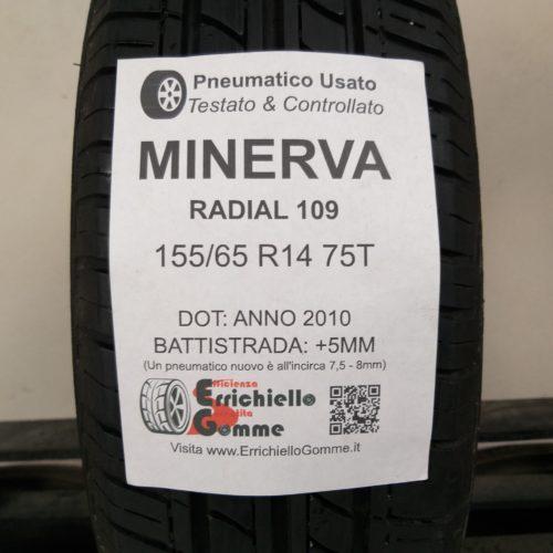 155/65 R14 75T Minerva Radial 109 – 60% +5mm – Gomma Estiva