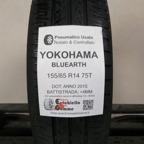 155/65 R14 75T Yokohama Bluearth – 50% +4mm – Gomma Estiva
