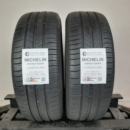 215/60 R16 95H Michelin Energy Saver –  60% +5mm – Gomme Estive