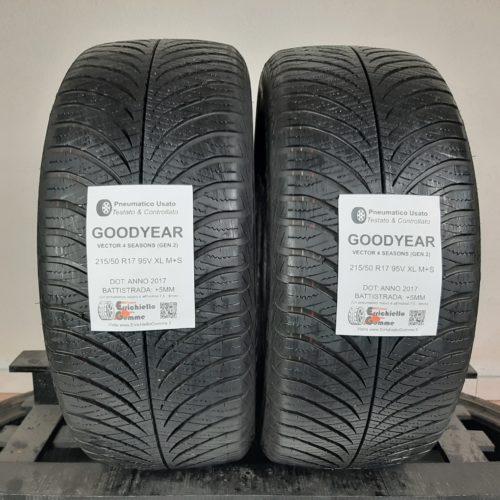 215/50 R17 95V XL M+S Goodyear Vector 4 Seasons (Gen. 2) –  60% +5mm Gomme 4 Stagioni