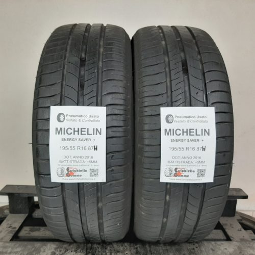195/55 R16 87H Michelin Energy Saver+ –   60% +5mm Gomme Estive