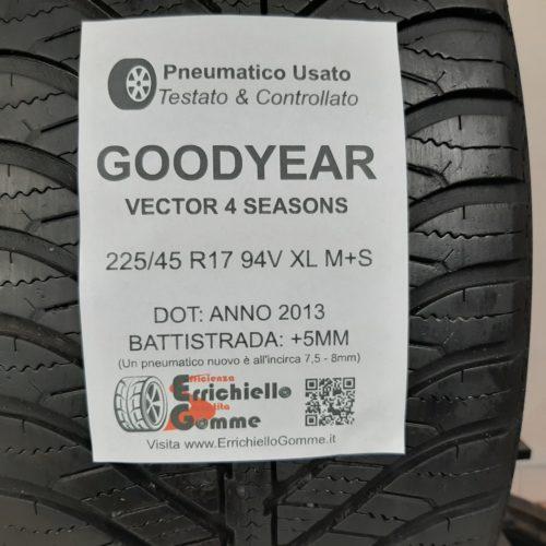 225/45 R17 94V XL M+S Goodyear Vector 4 Seasons – 60% +5mm – Gomme 4 Stagioni