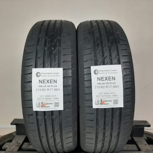 215/60 R17 96H Nexen NBlue HD Plus –  70% +6mm – Gomme Estive