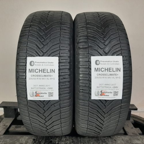 205/55 R16 94V XL M+S Michelin CrossClimate+ – 60% +5mm Gomme 4 Stagioni