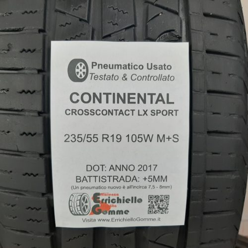 235/55 R19 105W M+S Continental CrossContact LX Sport – 60% +5mm Gomme 4 Stagioni