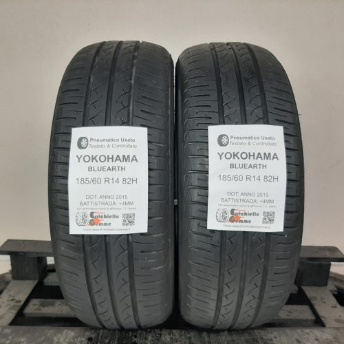 185/60 R14 82H Yokohama BluEarth – 50% +4mm – Gomme Estive