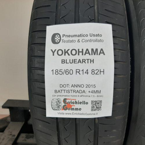 185/60 R14 82H Yokohama BluEarth – 50% +4mm – Gomme Estive