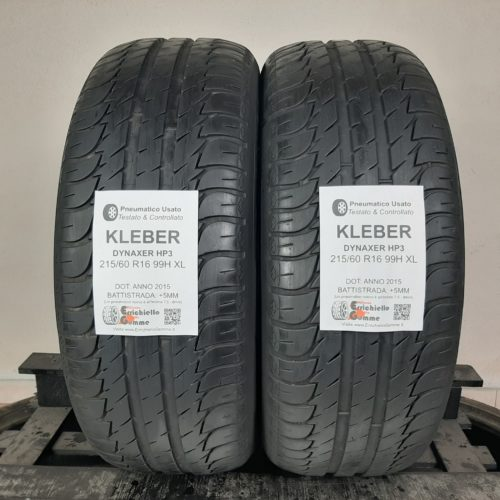 215/60 R16 99H XL Kleber Dynaxer HP3 – 60% +5mm – Gomme Estive